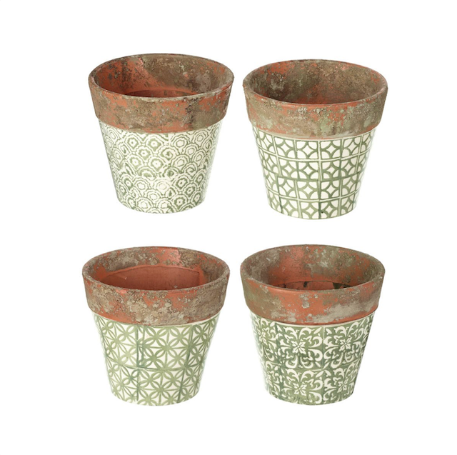 Ceramic Pot - Green 14cm