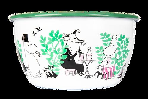 Moomin Enamel Bowl - Day In The Garden