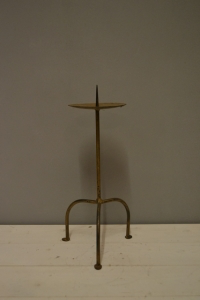 Rustic Wrought Iron Candle Stand
