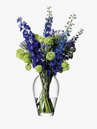 LSA Flower Grand Bouquet Vase H35cm Clear