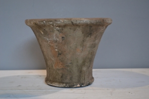 Ceramic Stone Fluted Pot