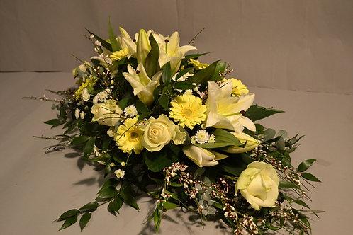 Lily, Gerbera & Rose Spray - funeral flowers
