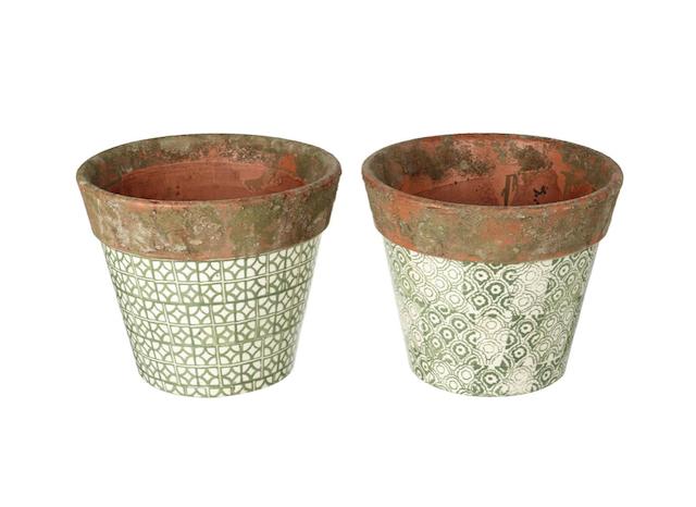 ceramic pot cream green