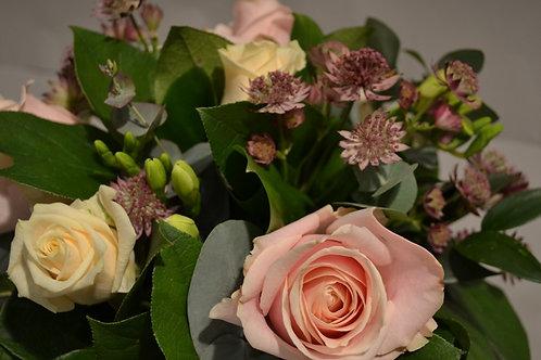 Pale Pink Rose Posy Arrangement - funeral flowers