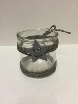 Hessian Decretive Glass Votive