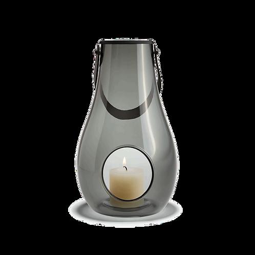 Holmegaard Design with Light - Glass Lantern Smoke - 29cm