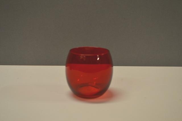 Glass Votive - Red