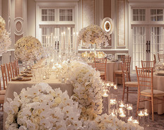 Creating exquisite florals in the Ballroom at Four seasons Hotel Hampshire, photography by Richard Waite
