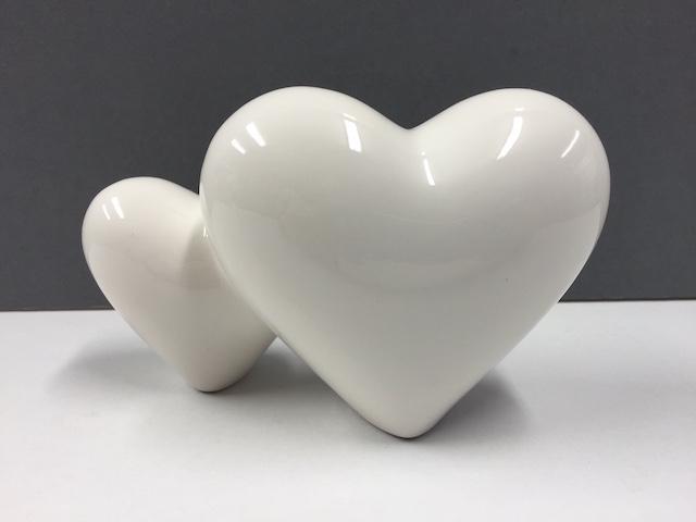 Ceramic Polished Hearts