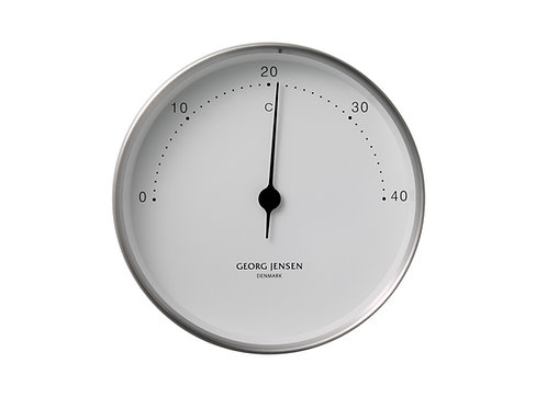 Georg Jensen Henning Koppel 10cm Thermometer - Stainless Steel with White Dial