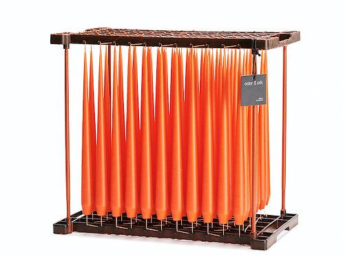Ester & Erik Orange Dark Taper Candle 16-2 - 32cm - Matt