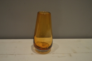 Amber Glass Stem Vase
