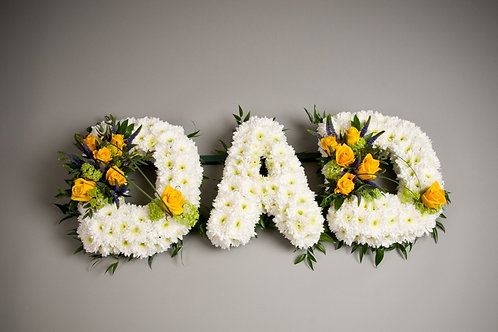 funeral flowers dad - Based Letters