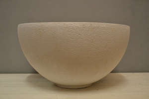 Stone Effect White Bowl