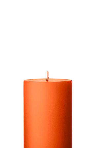 Ester & Erik Dark Orange Pillar Candle 16-2 - 10cm - Matt