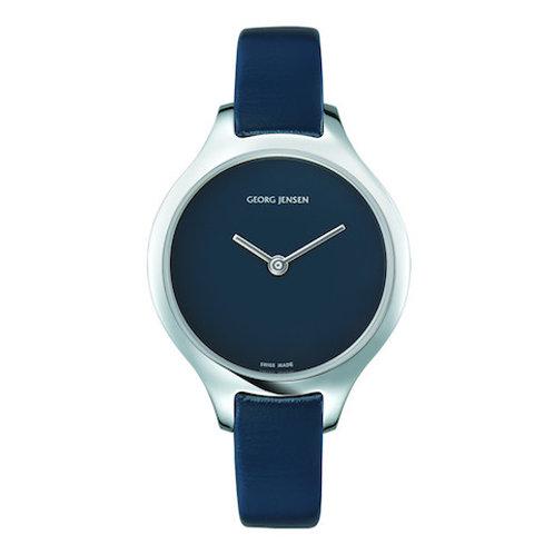 Georg Jensen Concave Watch - 30mm - Quartz - Blue Dial
