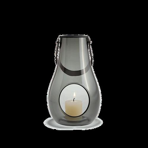 Holmegaard Design with Light - Glass Lantern Smoke - 25cm