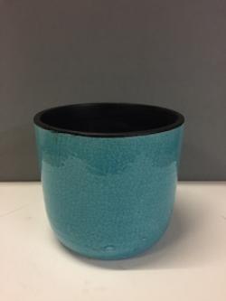 Turquoise Glazed Ceramic Pot
