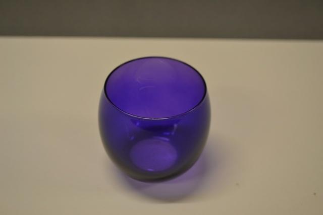 Glass Votive - Purple