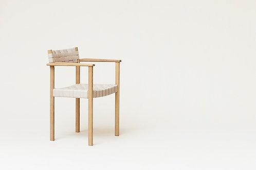 Form and Refine Motif Armchair - White Oak
