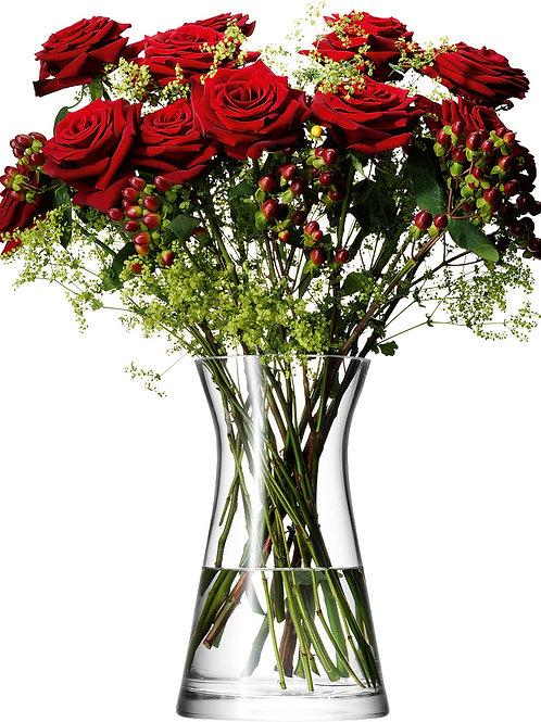 LSA Flower Mixed Bouquet Vase H29cm Clear