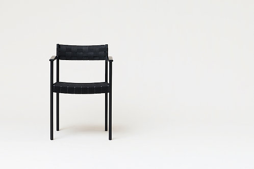 Form and Refine Motif Armchair - Black-stained Oak
