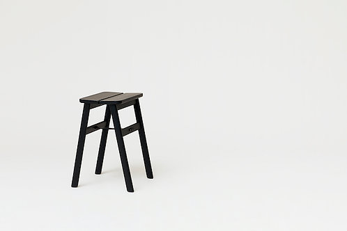 Form and Refine Angle Stool - Black-stained Oak