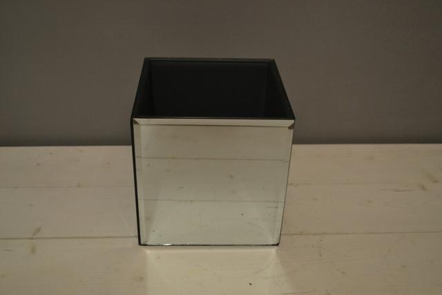 Mirrored Cube 18cm