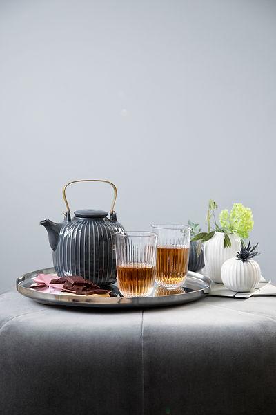 Kähler Hammershøi Teapot Anthracite - blomster designs - uk stockists