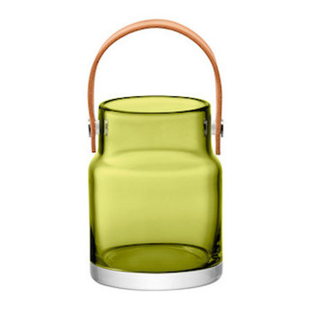 Lsa Utility Pot H18.5cm Olive Green And Leather Handle