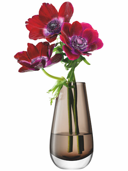 LSA Flower Bouquet Vase H14cm Mocha
