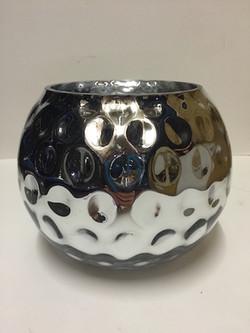 Silver Dimpled Vase 20cm