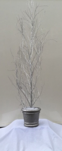 Silver Painted Birch Tree
