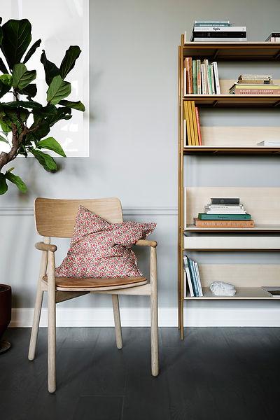Skagerak Vester chair and Vivlio shelving - blomster designs - uk stockists