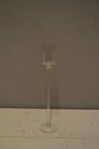 Long Stem Clear Glass Votive