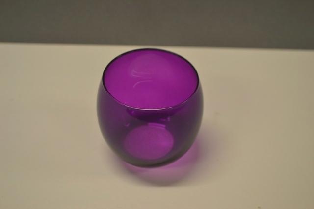 Glass Votive - Magenta