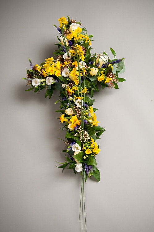 Sympathy Cross - funeral flowers