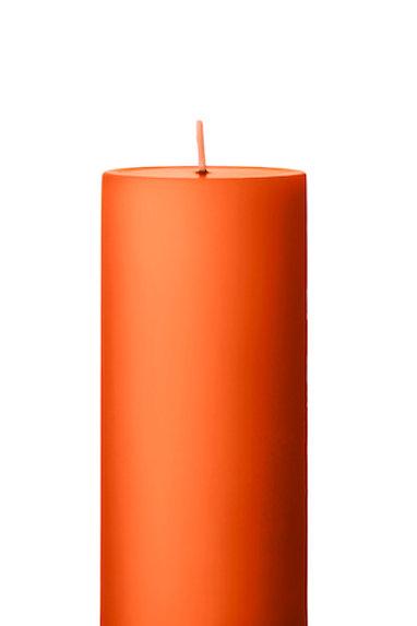 Ester & Erik Orange Dark Pillar Candle 16-2 - 15cm - Matt