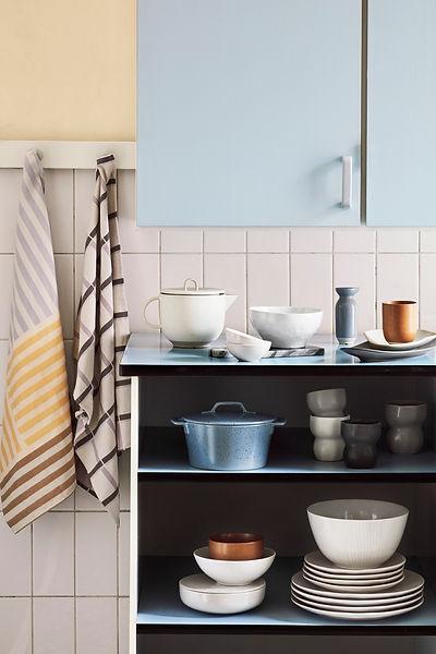 Broste kitchenware - tea towels - uk stockists - blomster designs