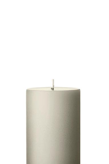 Ester & Erik Grey Linen Pillar Candle 22 - 10cm - Matt