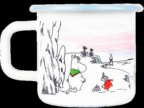 Moomin Enamel Mug - Winter Time