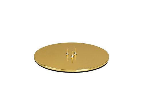 Ester & Erik Candle Plate - Shiny Gold