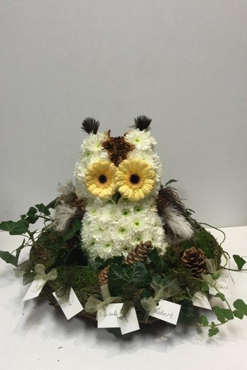 Based Owl Tribute - funeral flowers