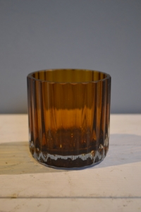 Brown Glass Tumbler Vase