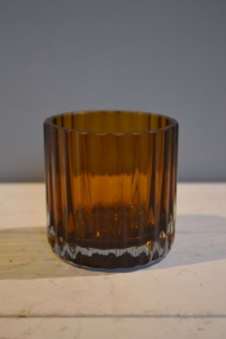Brown Glass Tumbler Vase