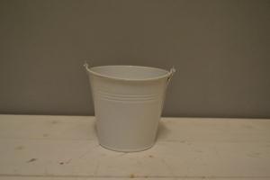 White Metal Bucket