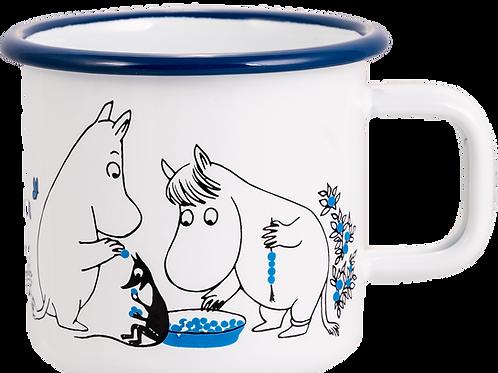 Moomin Enamel Mug - Blueberries