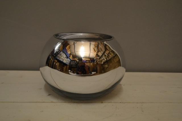 Silver Goldfish Bowl 30cm