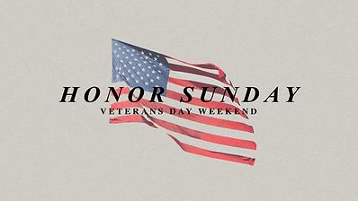 Honor Sunday
