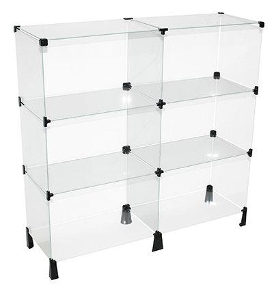 Balcão de vidro modulado
